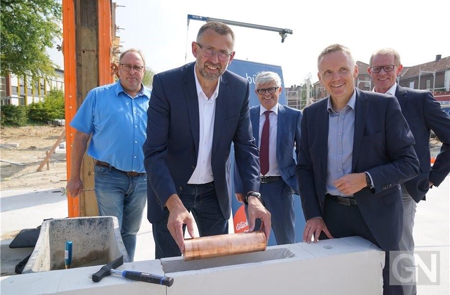 Grundstein für die Kaiserhof-Kita in Bad Bentheim ist gelegt