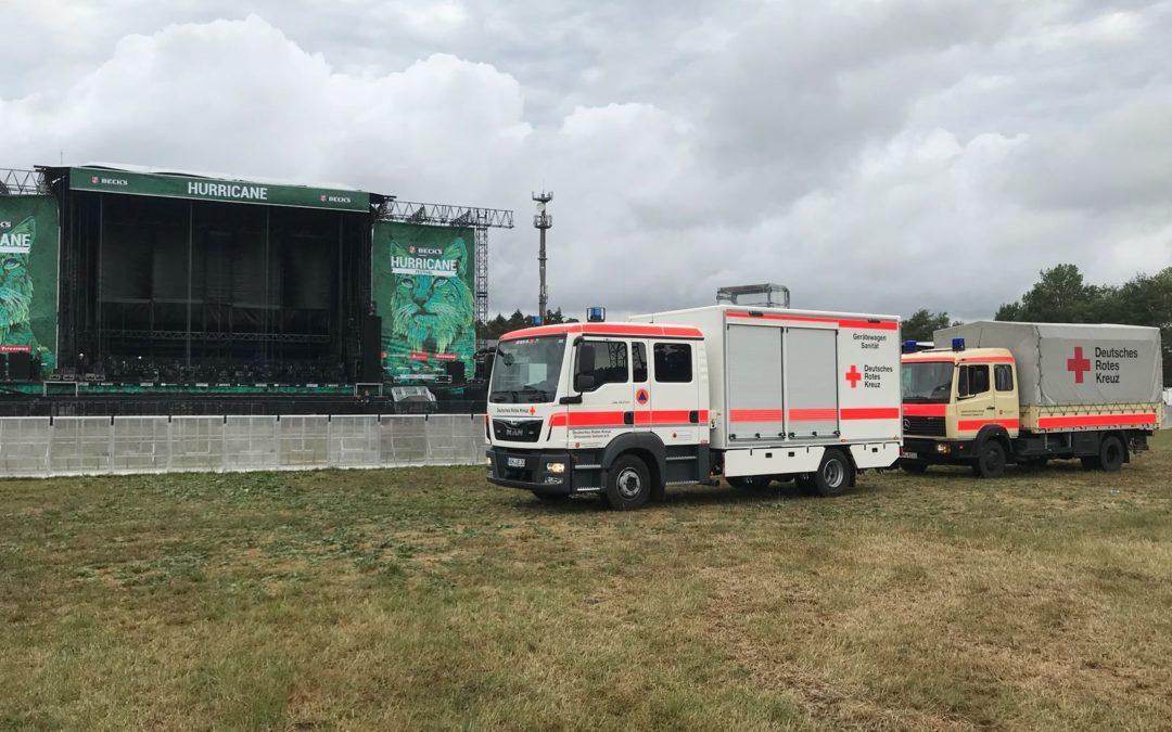 Grafschafter DRK-Helfer unterstützen beim Hurricane Festival in Scheeßel