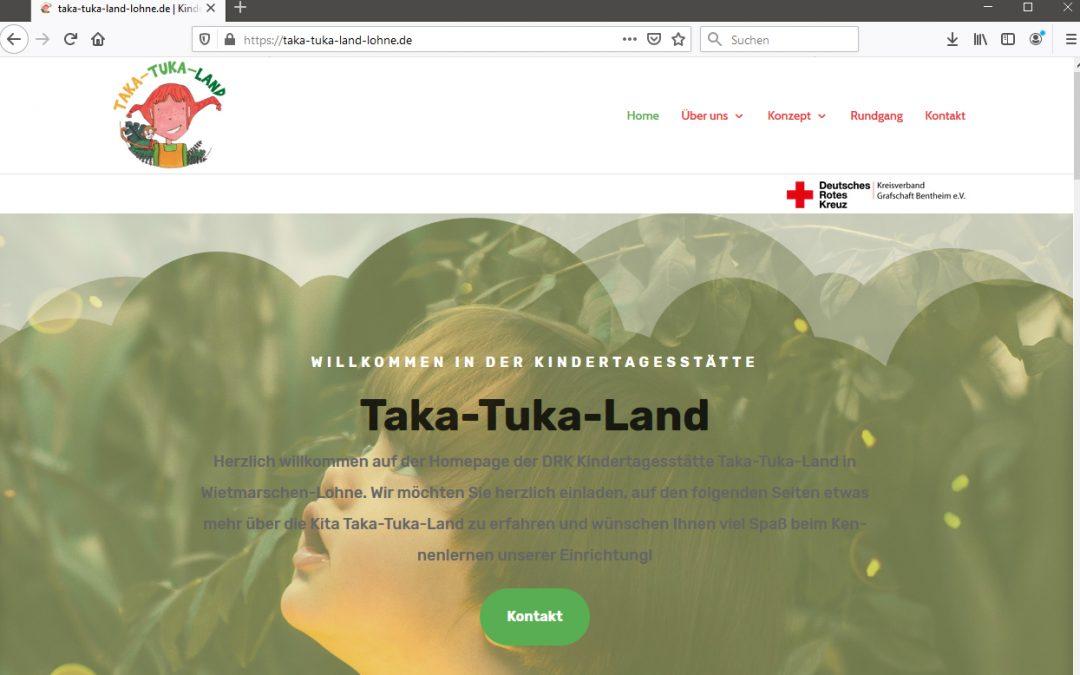 Internet-Auftritt Kita Taka-Tuka-Land online